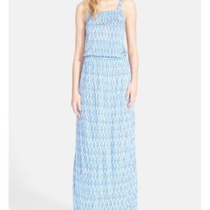 "Joie ""Narod"" print maxi dress in blue"